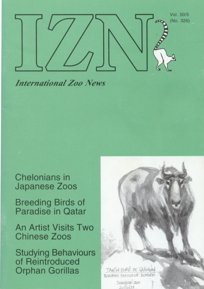 International zoo news n° 326