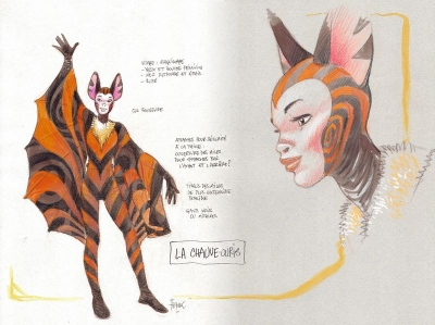 Dessins costumes du spectacle Les Zooribles Comblain 2009