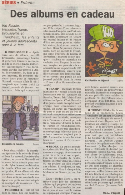 Le Courrier de l'Escaut du 27/11/2000