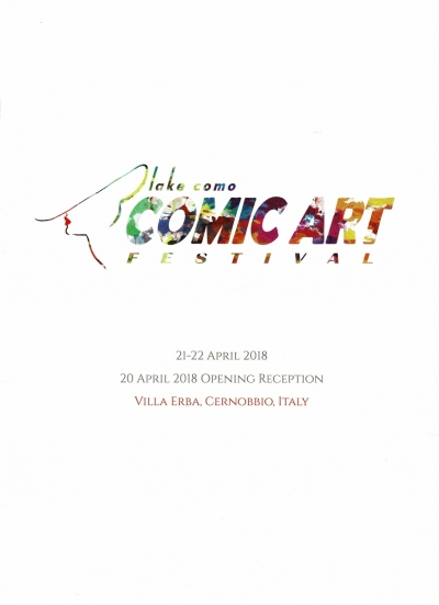 Comic art Lake Como